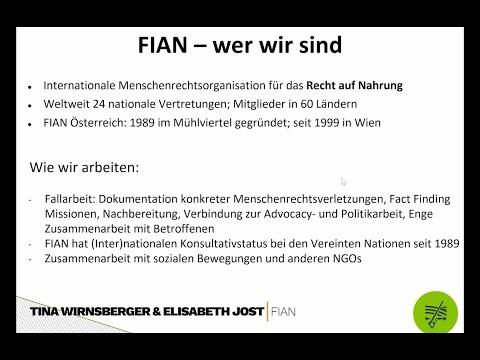 Workshop FIAN Österreich - Nyéléni Frühjahrserwachen 2021